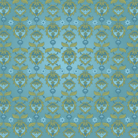 Victorian Wallpaper. Repeating floral wallpaper pattern. Easy to tile and edit. Illustration