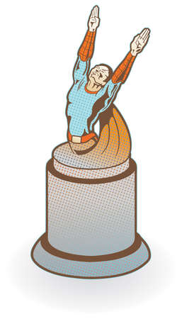 Super hero award or statue. Easily edited.  Illustration