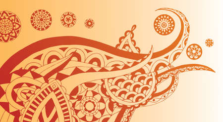Detailed henna style doodle with essence of elephant. Easily edited.  Vector