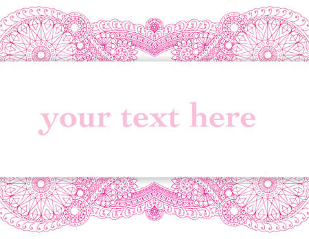 Detailed henna style frame ready for your text.