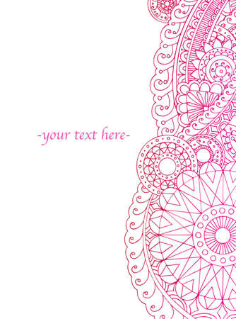 hinduism: Highly ornate henna style border ready for your text.