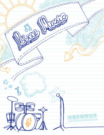 Hand drawn music poster with room for your text.