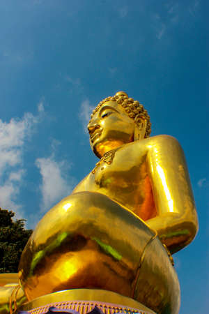 subduing: Buddha Lanna Stock Photo