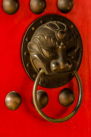 Open door of asian photo