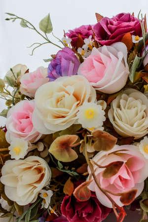 bouquet da sposa con cespuglio di rose Archivio Fotografico