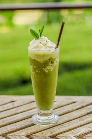 Green tea smoothies Фото со стока