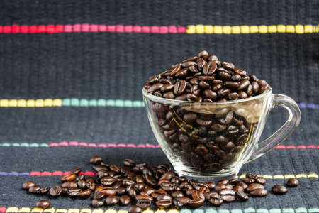 coffee beans on background  photo