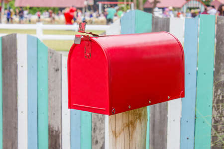 Red mailbox  photo