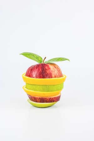 Mixed Fruit on white background  photo