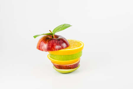 Mixed Fruit on white background  photo