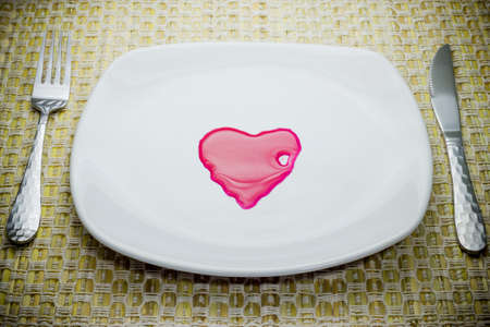 Heart shaped in plate  photo