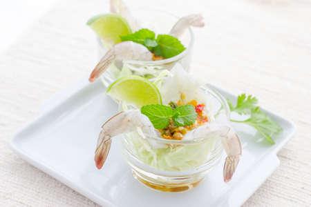 gamberetti in salsa di pesce, frutti di mare tailandese, thaifood Archivio Fotografico