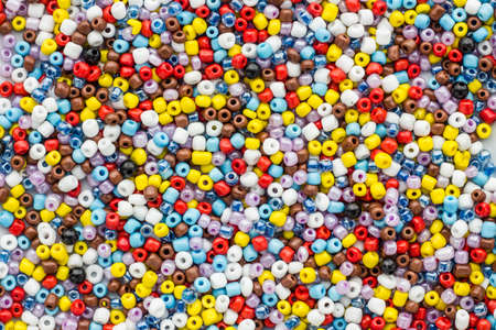 beading: glass beads for beading and jewelry making Stock Photo