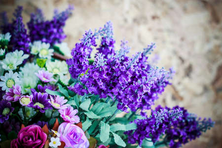 Colorful bouquets from different kinds of flowers Stock Photo