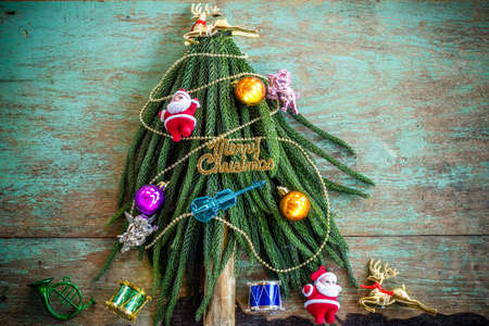Decorated Christmas tree , Merry Christmas and happy new year photo