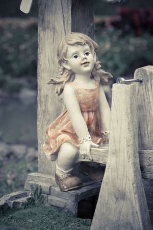 Statue child in playground