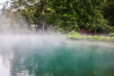 hot spring, LAM NAM KOK NATIONAL PARK , Thailand Stock Photo