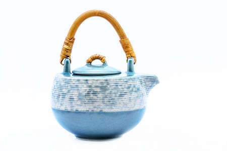 teapot isolated on white background Banco de Imagens