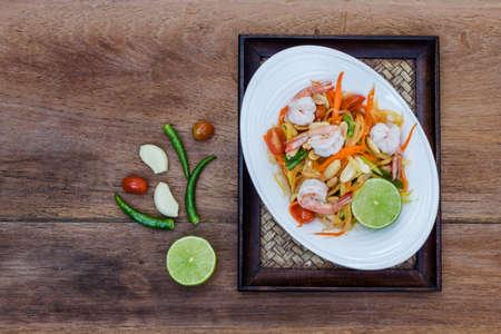 green papaya salad: green papaya salad thai food, Thai cuisine  traditional and modern thai food