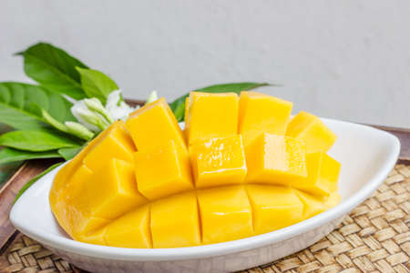 Fresh golden mango photo