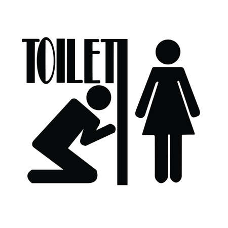 Restroom male and female sign vector illustration Vector