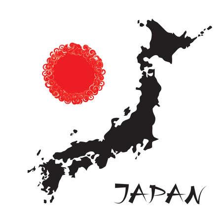 Japan theme illustration  Illustration