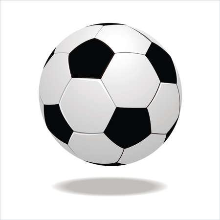 footie: Soccer ball isolated on white background  Illustration