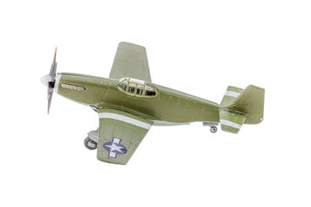 World War II fighter airplanes model on white background Stock Photo