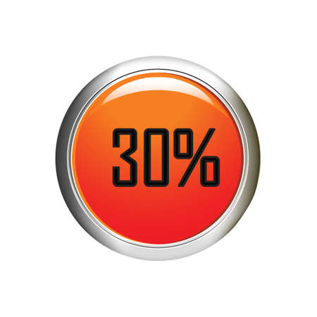 30 percent discount icon on white background. Vector