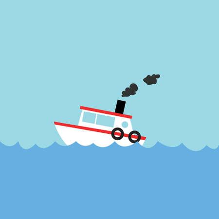 cartoon fishing: fishing boat