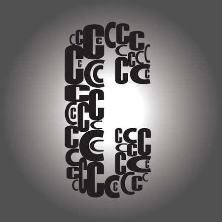 letter C illustration Vector