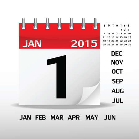 Calendario su carta bianca illustrazione