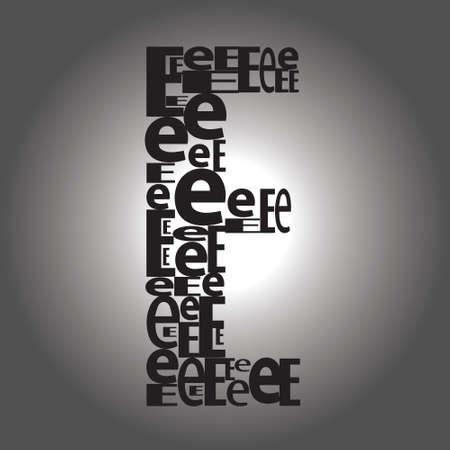 letter E illustration