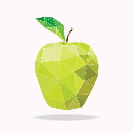 Mela verde poligono astratto illustrazione