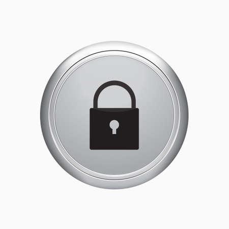 Icona di blocco su sfondo bianco.