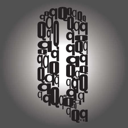 letter Q illustration Vector