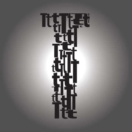 lettera T illustrazione