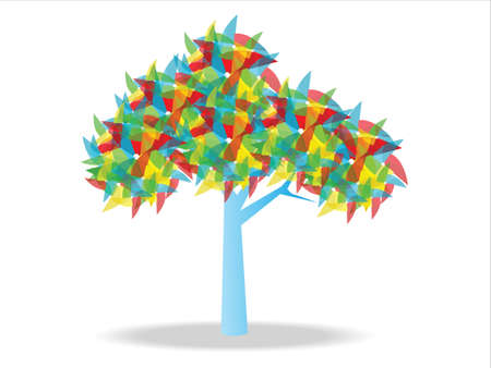 wind wheel: Wind wheel Tree Illustration