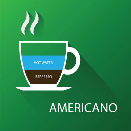 americano: Type of coffee americano. Illustration