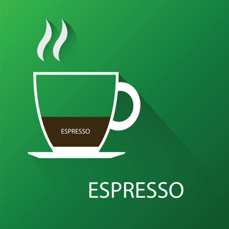 Type of coffee espresso coffee. Vector