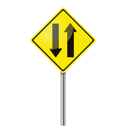 bifurcation: Two way traffic sign
