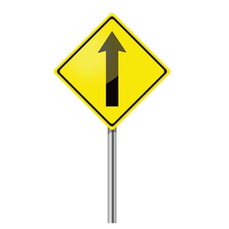 go straight traffic sign Vector