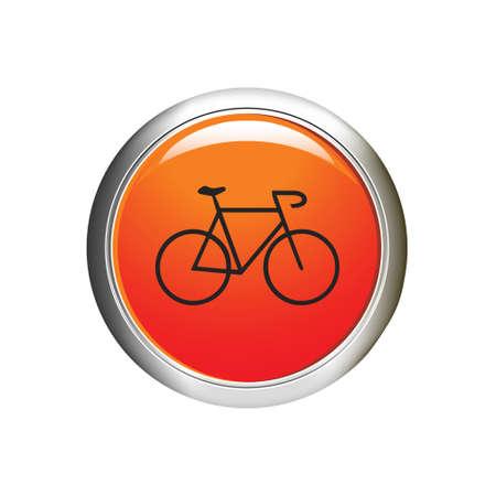 Internet button.  Illustration
