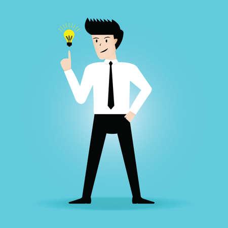 Businessman get the idea. vector illustration Vector