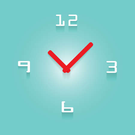 3D Clock With Transparent Shadow Vector