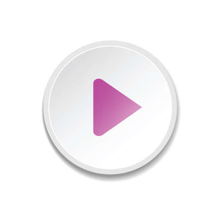 Play Button. Metal player buttons. vector illustration Vector