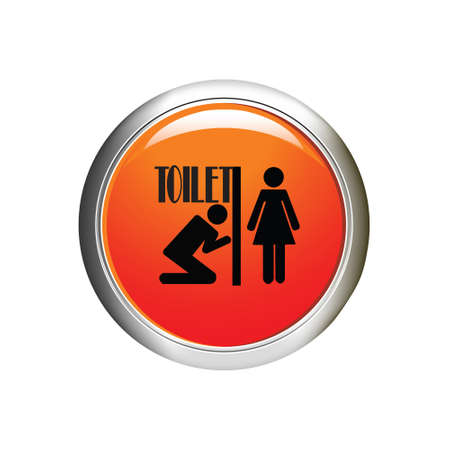 genders: Restroom male and female icon. Internet button. vector illustration Illustration