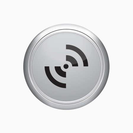 extensible: Bot�n de Internet. Rss icono de la muestra en el fondo blanco. Vectores
