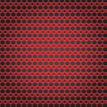 red metal: Red metal background pattern texture grey metal steel message board for text and message design Illustration