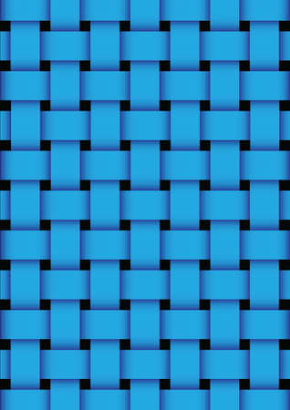 Blue basket weave texture background. vector illustration Vector